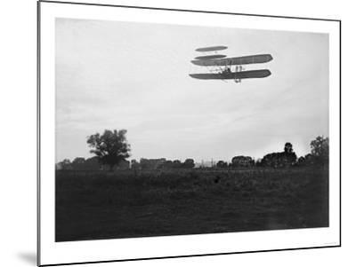 Orville Wright Flies High in the Sky Photograph - Dayton, OH-Lantern Press-Mounted Art Print