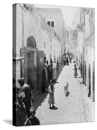Street Leading to Church of the Nativity Photograph - Bethlehem, Palestine-Lantern Press-Stretched Canvas Print