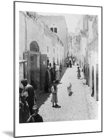 Street Leading to Church of the Nativity Photograph - Bethlehem, Palestine-Lantern Press-Mounted Art Print