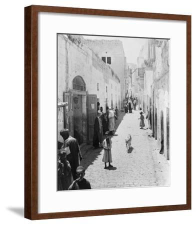 Street Leading to Church of the Nativity Photograph - Bethlehem, Palestine-Lantern Press-Framed Art Print