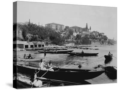 Port of Salacak in Uskudar Photograph - Istanbul, Turkey-Lantern Press-Stretched Canvas Print