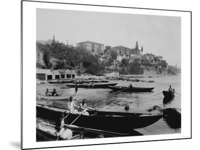 Port of Salacak in Uskudar Photograph - Istanbul, Turkey-Lantern Press-Mounted Art Print