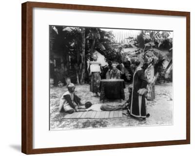 Vietnamese Ceremony Photograph - Ho Chi Minh City, Vietnam-Lantern Press-Framed Art Print