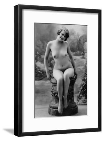 Nude Woman French Art Nouveau Photograph No.4 - France-Lantern Press-Framed Art Print