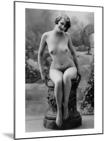 Nude Woman French Art Nouveau Photograph No.4 - France-Lantern Press-Mounted Art Print
