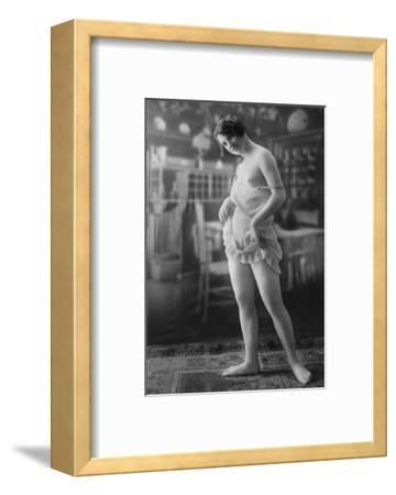 Nude Woman French Art Nouveau Lingerie Photograph No.10 - France-Lantern Press-Framed Art Print