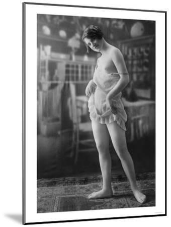 Nude Woman French Art Nouveau Lingerie Photograph No.10 - France-Lantern Press-Mounted Art Print