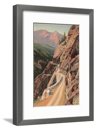 Uncompahgre Gorge and Million Dollard Highway, Colorado - Million Dollar Highway, CO-Lantern Press-Framed Art Print