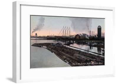 Aberdeen, Washington - View of a Lumber Mill-Lantern Press-Framed Art Print