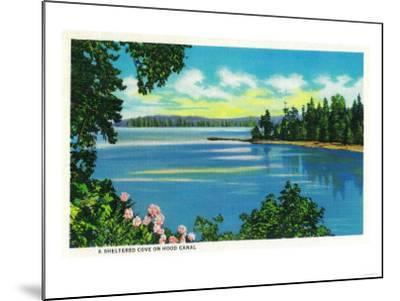 Sheltered Cove on Hood Canal - Hood Canal, WA-Lantern Press-Mounted Art Print