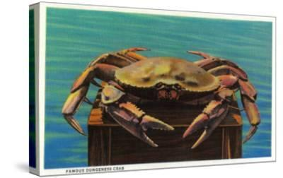 Dungeness Crab on Hood Canal - Hood Canal, WA-Lantern Press-Stretched Canvas Print