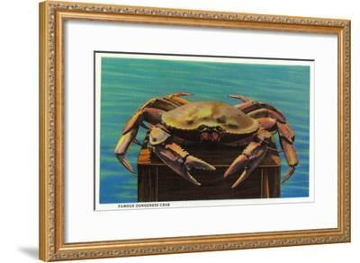 Dungeness Crab on Hood Canal - Hood Canal, WA-Lantern Press-Framed Art Print