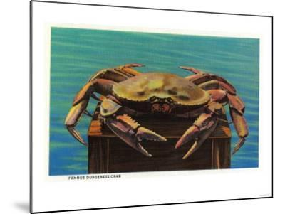 Dungeness Crab on Hood Canal - Hood Canal, WA-Lantern Press-Mounted Art Print