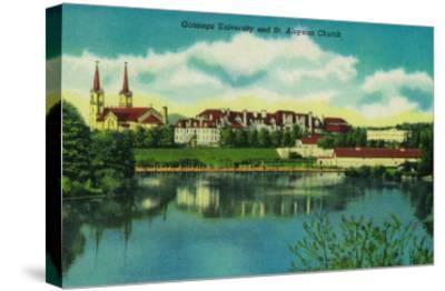 Gonzaga University and St. Aloysius Church, Spokane - Spokane, WA-Lantern Press-Stretched Canvas Print