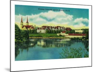 Gonzaga University and St. Aloysius Church, Spokane - Spokane, WA-Lantern Press-Mounted Art Print