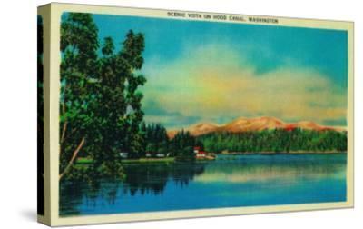 Scenic Vista on Hood Canal - Hood Canal, WA-Lantern Press-Stretched Canvas Print