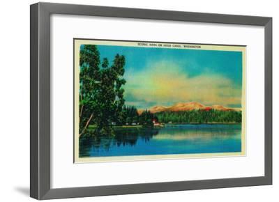 Scenic Vista on Hood Canal - Hood Canal, WA-Lantern Press-Framed Art Print
