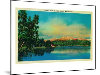 Scenic Vista on Hood Canal - Hood Canal, WA-Lantern Press-Mounted Art Print