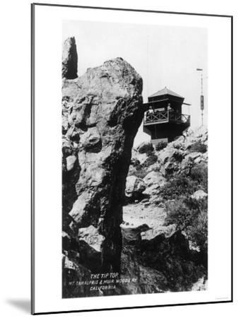 View of the Summit of Mt. Tamalpais - Mt. Tamalpais, CA-Lantern Press-Mounted Art Print