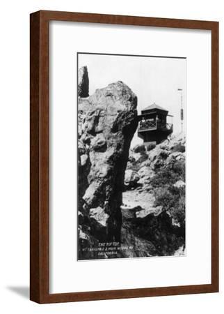 View of the Summit of Mt. Tamalpais - Mt. Tamalpais, CA-Lantern Press-Framed Art Print