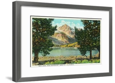 View of Twin Lakes near Bridgeport - Mono County, CA-Lantern Press-Framed Art Print