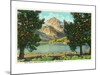 View of Twin Lakes near Bridgeport - Mono County, CA-Lantern Press-Mounted Art Print