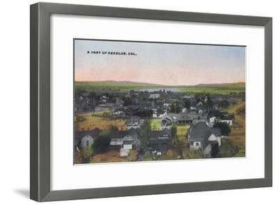 Aerial View of the Town - Needles, CA-Lantern Press-Framed Art Print