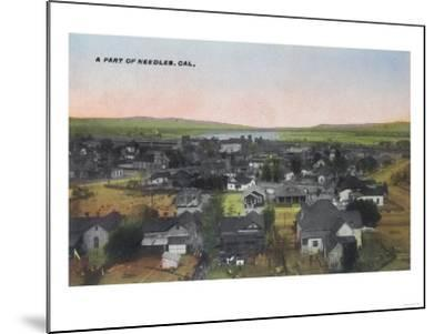 Aerial View of the Town - Needles, CA-Lantern Press-Mounted Art Print