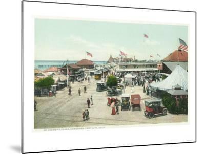 Aerial View of Tent City and Amusement Plaza - Coronado Beach, CA-Lantern Press-Mounted Art Print