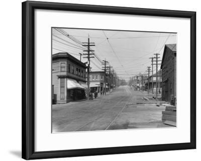 Fremont Avenue looking North Photograph - Seattle, WA-Lantern Press-Framed Art Print