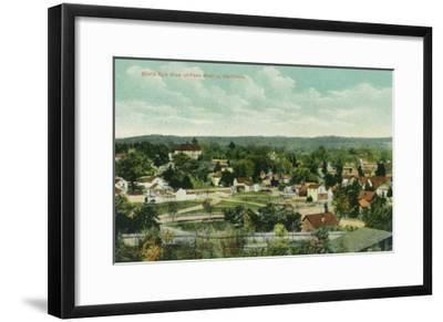 Aerial View of the City - Paso Robles, CA-Lantern Press-Framed Art Print
