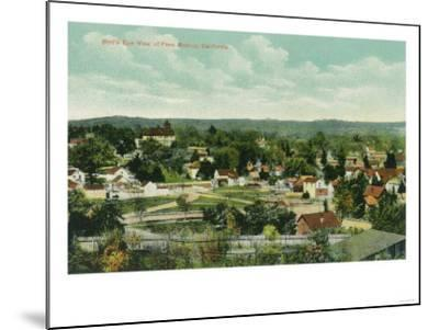 Aerial View of the City - Paso Robles, CA-Lantern Press-Mounted Art Print