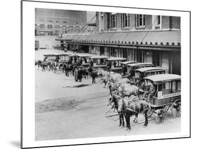 USPS Mail Wagons Photograph - Seattle, WA-Lantern Press-Mounted Art Print