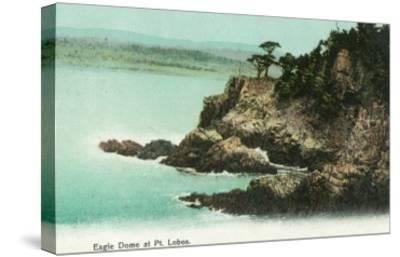 Aerial View of Eagle Dome at Point Lobos - Los Gatos, CA-Lantern Press-Stretched Canvas Print