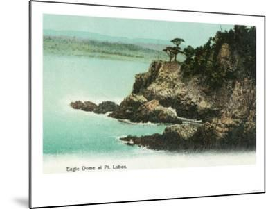 Aerial View of Eagle Dome at Point Lobos - Los Gatos, CA-Lantern Press-Mounted Art Print