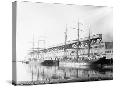 East Waterways Terminals Photograph - Seattle, WA-Lantern Press-Stretched Canvas Print