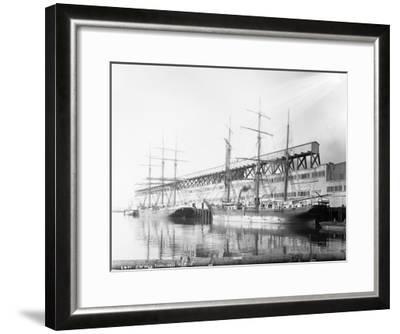 East Waterways Terminals Photograph - Seattle, WA-Lantern Press-Framed Art Print