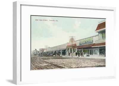 View of West Main Street - Turlock, CA-Lantern Press-Framed Art Print