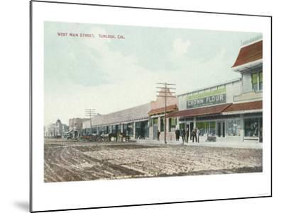 View of West Main Street - Turlock, CA-Lantern Press-Mounted Art Print