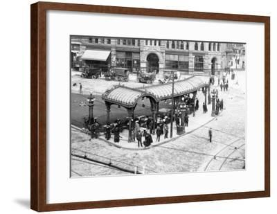 Pioneer Square Pergola Photograph - Seattle, WA-Lantern Press-Framed Art Print