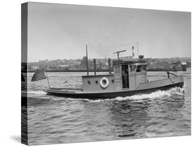 Harbor Patrol Boat Photograph - Seattle, WA-Lantern Press-Stretched Canvas Print