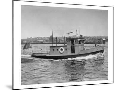 Harbor Patrol Boat Photograph - Seattle, WA-Lantern Press-Mounted Art Print