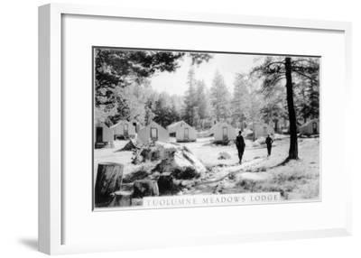 View of Tuolumne Meadows Lodge - Tuolumne, CA-Lantern Press-Framed Art Print