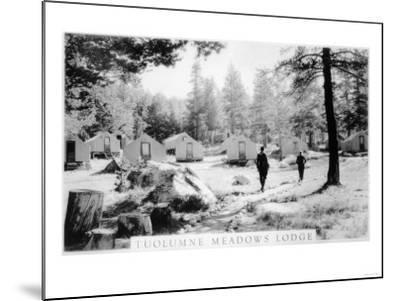 View of Tuolumne Meadows Lodge - Tuolumne, CA-Lantern Press-Mounted Art Print