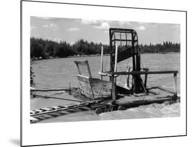 An Alaskan Fish Wheel View - Copper River, AK-Lantern Press-Mounted Art Print