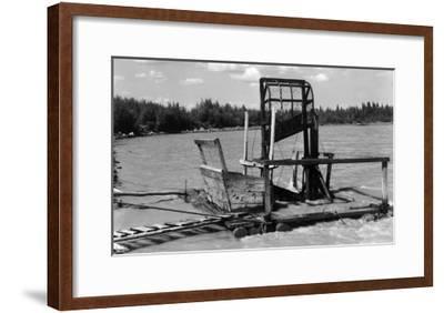 An Alaskan Fish Wheel View - Copper River, AK-Lantern Press-Framed Art Print