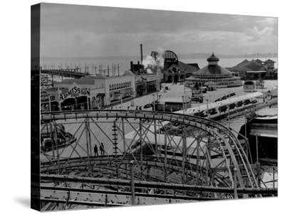 Luna Park in West Seattle Photograph - Seattle, WA-Lantern Press-Stretched Canvas Print