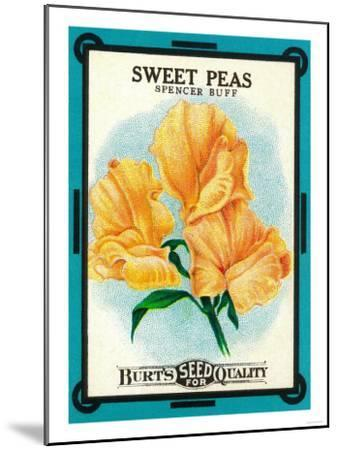 Sweet Peas Seed Packet-Lantern Press-Mounted Art Print