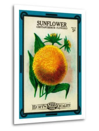 Sunflower Seed Packet-Lantern Press-Metal Print