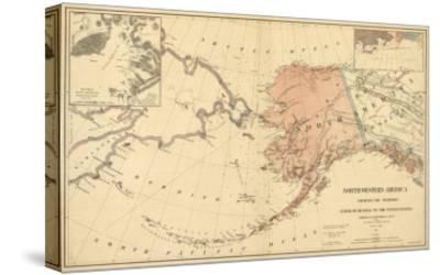Alaska - Panoramic State Map-Lantern Press-Stretched Canvas Print